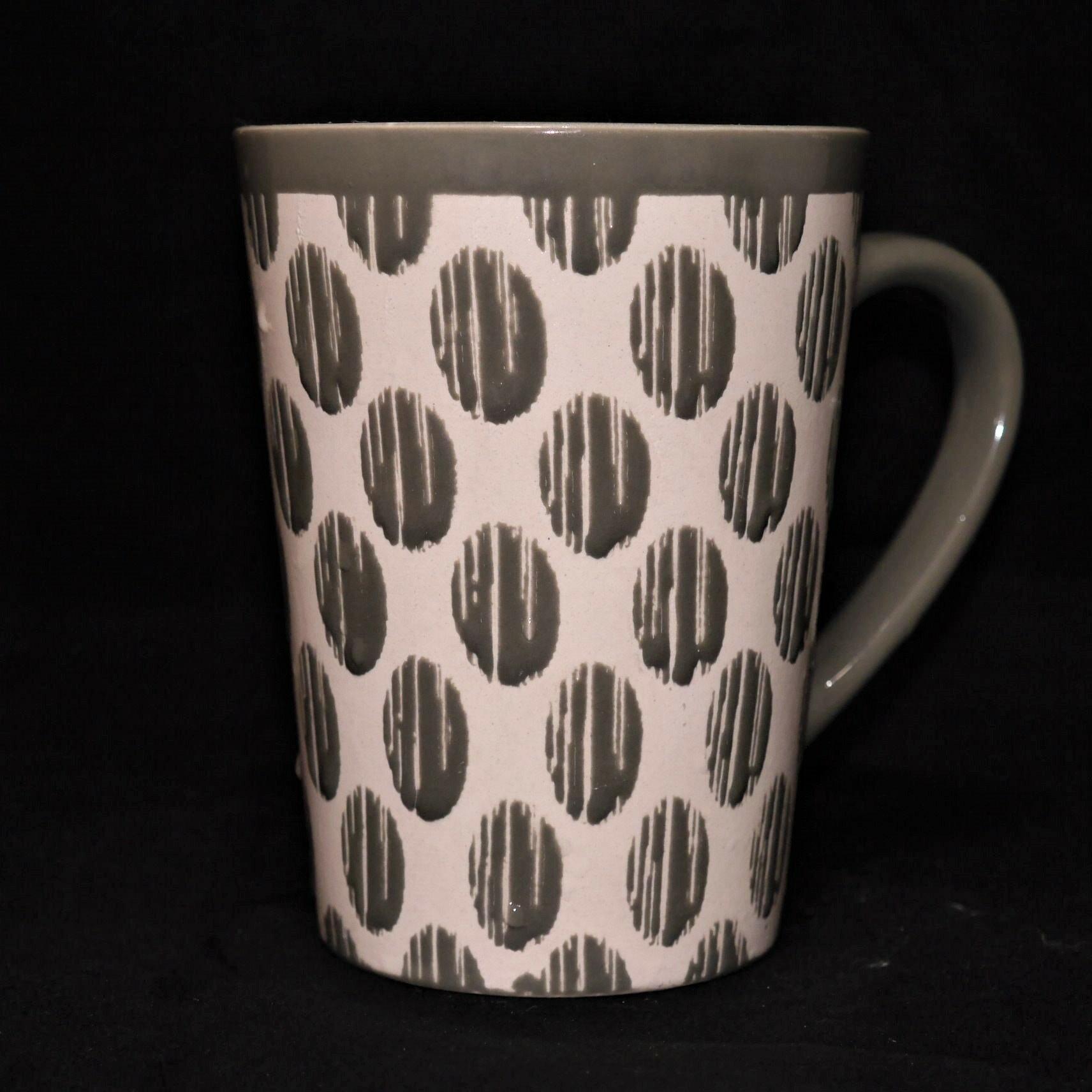 mug/馬克杯灰色幾何紋500ml【曉風】