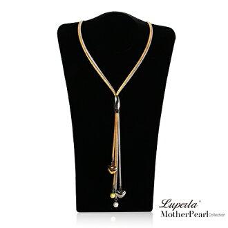 大東山珠寶 法式浪漫 典雅璨金活動式長版項鍊