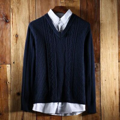 針織毛衣長袖針織衫-自信成熟商務設計男上衣73ik27【獨家進口】【米蘭精品】