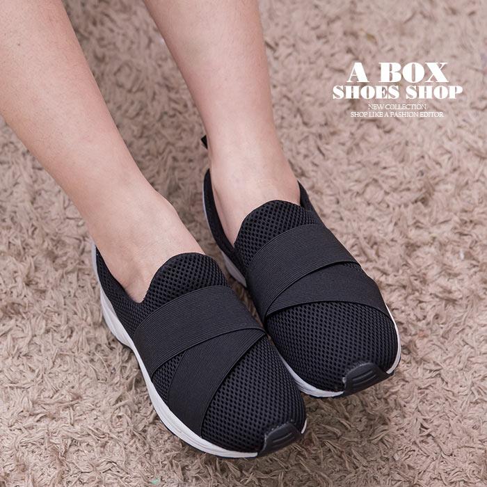 MIT台灣製 透氣網布拼接布面 簡單流行繃帶 布面鞋 休閒鞋 懶人鞋 3色【KT3544】 0