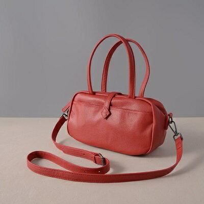 肩背包真皮手提包-牛皮純色休閒方型女包包3色73ut35【獨家進口】【米蘭精品】 0