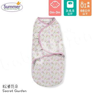 Summer Infant - SwaddleMe - Original 聰明懶人育兒包巾 - 粉漫花朵