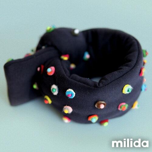 【Milida,全店七折免運】-熱賣單品-圍巾款-造型釘珠設計