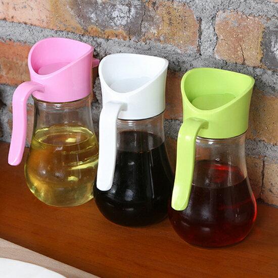 ?MY COLOR?可控式回油玻璃壺 醬油 酒醋 液體 防漏 玻璃 調味 廚房 油瓶 料理 醬料【X20】