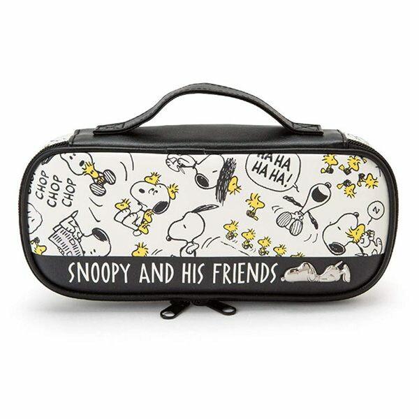 【史努比鉛筆袋】史努比 雙層 鉛筆盒 鉛筆袋 PU皮革 Snoopy  該該貝比  ☆