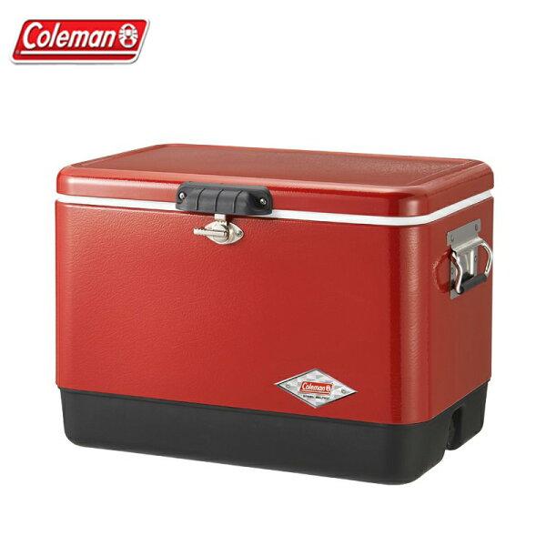 【露營趣】ColemanCM-0432051L紅黑經典鋼甲冰箱行動冰箱冰桶露營冰桶野餐露營野營