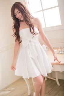 PMQueen白羽夜后洋裝禮服:PMQueen白羽夜后洋裝禮服[#30008]胸口百折平口緞面洋裝小禮服晚宴伴娘禮服