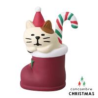 幫家裡聖誕佈置裝飾到【聖誕節限定版】日本擺飾小玩偶 / 公仔 -  Concombre 聖誕襪裡打瞌睡的三毛貓 ( ZXS-48186 ) 推薦聖誕交換禮物 聖誕佈置裝飾推薦 喵星人