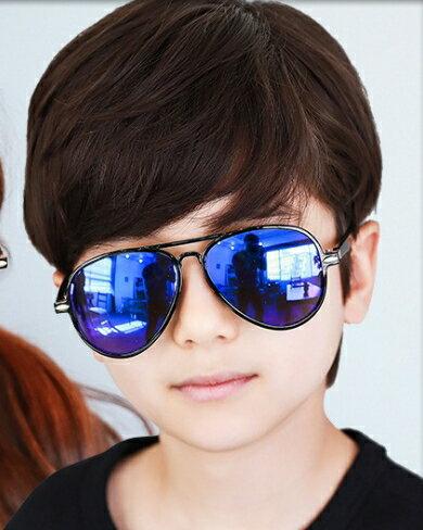 Kocotree◆ 時尚潮流酷炫雷朋輕版升級版兒童炫彩太陽眼鏡-寶藍