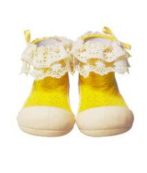 【本月特價$599】韓國【Attipas】快樂腳襪型學步鞋-淑女黃 - 限時優惠好康折扣