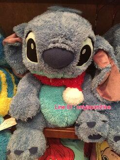 【真愛日本】16101200026 樂園限定棉柔手偶娃-圍巾史迪奇 迪士尼 星際寶貝 史迪奇  娃娃 抱枕 枕頭 靠枕