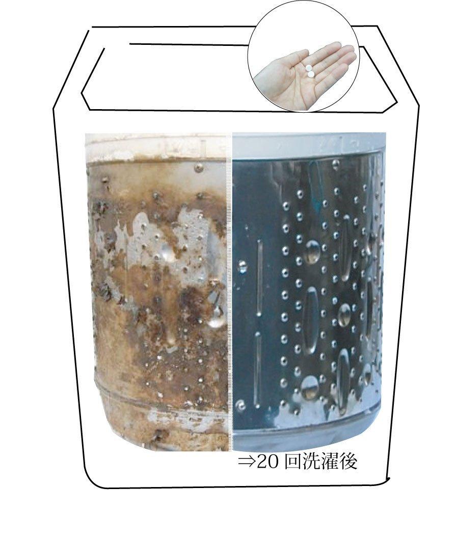 日本抗菌綜合研究所 HOTAPA 天然貝殼粉 洗衣槽抗菌清潔錠 100 / s55480。日本必買 樂天代購 (1080*0.1)。件件免運 2