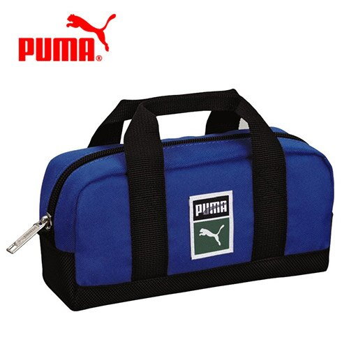 藍色款【日本正版】PUMA 多功能 收納包 化妝包 鉛筆盒 筆袋 手提設計 - 079467