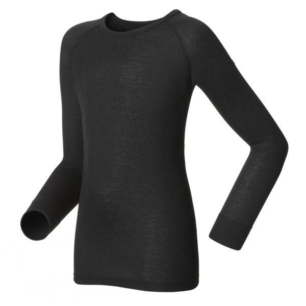【【蘋果戶外】】odlo 10459 童衣 黑『送雪襪』瑞士 機能保暖型排汗內衣 衛生衣 發熱衣 保暖衣 長袖