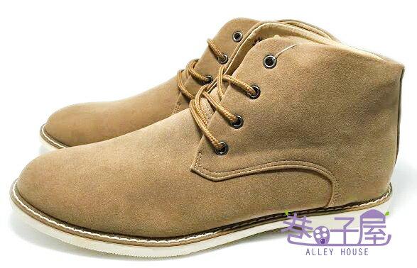 【巷子屋】JIMMY POLO 男款韓風車縫底軟墊高統休閒鞋 [9127] 棕 MIT台灣製造 超值價$298