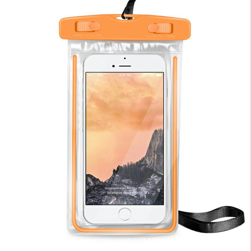 PS Mall 夜光款手機 螢光防水袋 觸摸透明PVC潛水套【J312】 7
