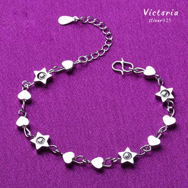 Victoria:S925銀星星盤旋手鍊-維多利亞161131