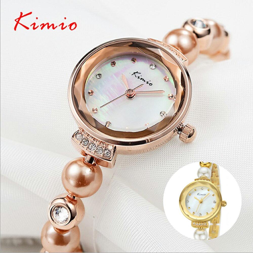 Kimio 金米歐 KW-6026 閃耀珍珠水鑽切割玻璃鏡面手練錶 0