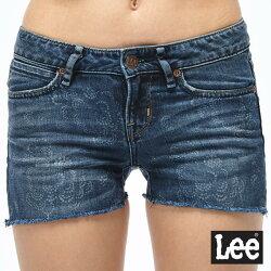 Lee 牛仔短褲-中深藍色-女款