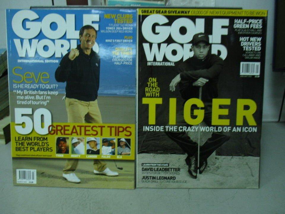 【書寶二手書T1/雜誌期刊_WGN】Golf world_2002/1&3月_共2本合售_Tiger等