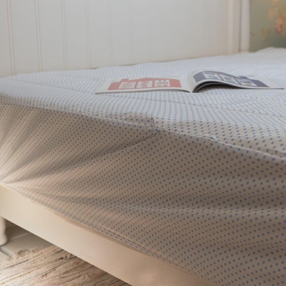【點點】日系床包式保潔墊(尺寸可選)抗菌防蟎防污 台灣製 厚實鋪棉 可水洗 好窩生活節 6