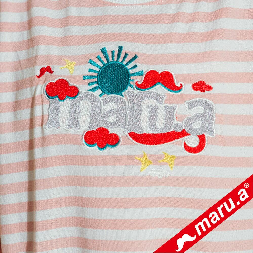 【maru.a】條紋長版蕾絲兩件式洋裝(2色)8317112 4