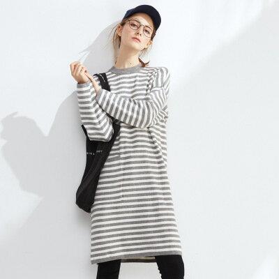 中長款毛衣打底衫針織衫洋裝連身裙樂天時尚館。現貨。[全店免運]