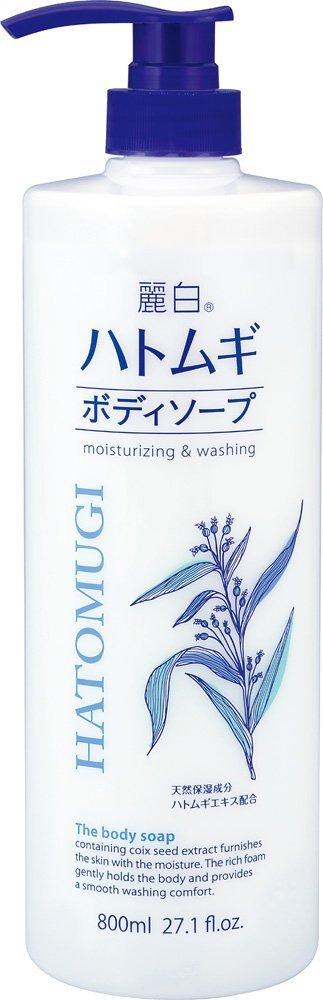 日本熊野麗白薏仁保濕沐浴乳800ML