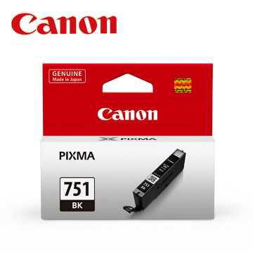 CANON CLI-751 BK 原廠相片黑墨水匣全新原廠公司貨含稅附發票