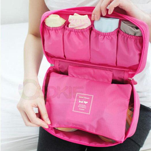 多功能旅行包 內衣內褲整理包 洗漱包 手提式旅行袋 內衣收納包 旅行收納包【庫奇小舖】