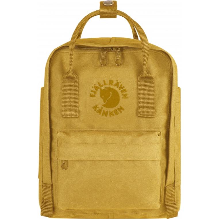 Fjallraven 小狐狸 Re-Kanken mini 瑞典書包/空肯包/方型後背包 23549 142 向日葵黃 台北山水