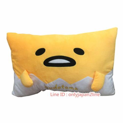 【真愛日本】17022100004大臉雙人枕-蛋黃哥  三麗鷗家族 蛋黃哥 Gudetama  抱枕 靠枕 枕頭 娃娃