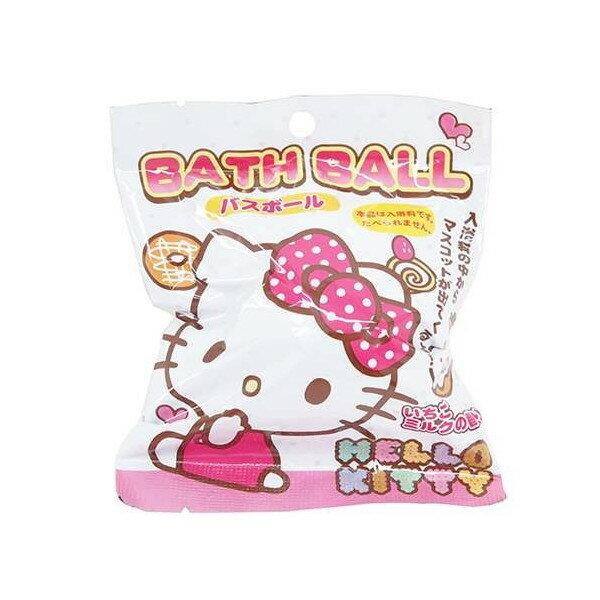 SANTAN Hello Kitty 3彩色緞帶沐浴球 入浴球 87g 趣味浴玩 ~夏日