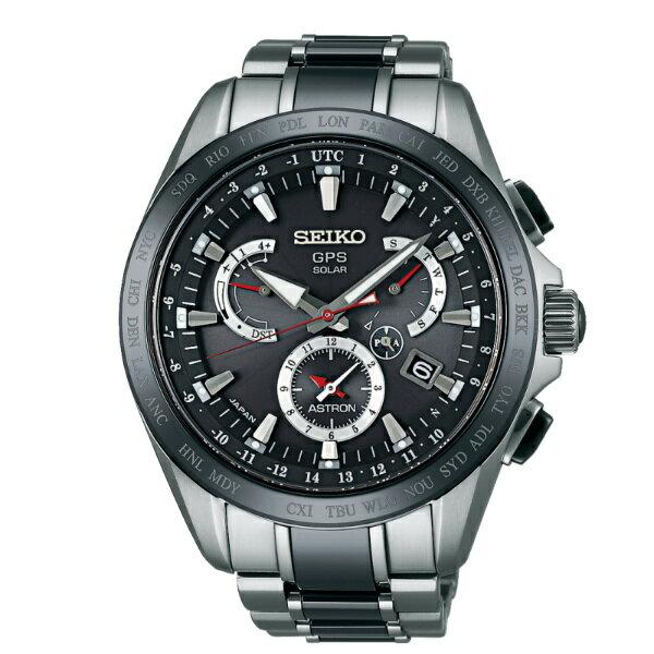 Seiko Astron 8X53-0AB0D(SSE041J1)鈦金屬半陶時尚太陽能GPS校時腕錶/黑面44.6mm