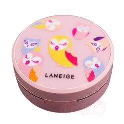韓國 LANEIGE 蘭芝 水聚光淨白氣墊粉霜幸運貓頭鷹限量版(15g*2)【庫奇小舖】