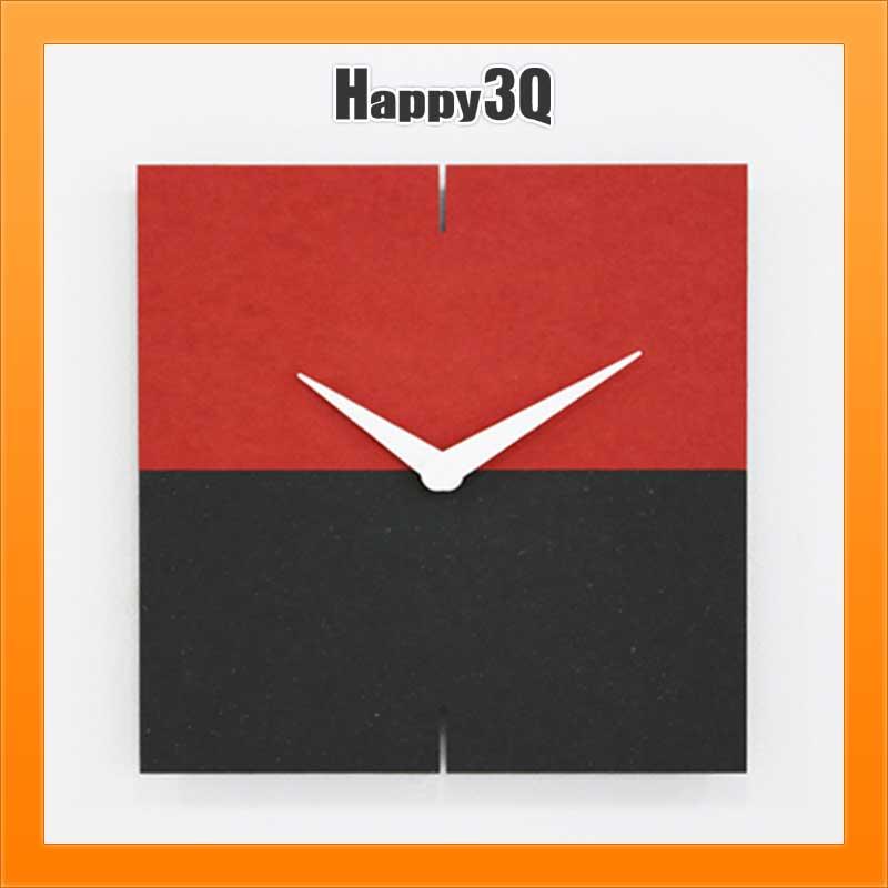 方形時鐘掛鐘個性現代設計鈴木機芯靜音機心客廳餐廳房間時尚設計-灰/紅/黃/綠/藍/橘【AAA2415】