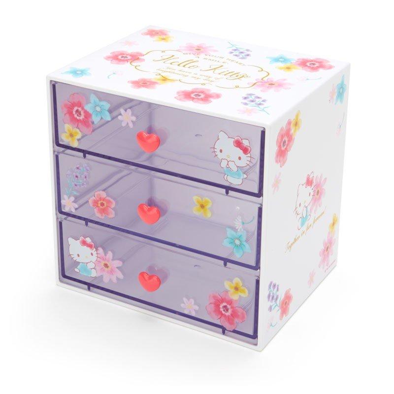 Hello Kitty3層桌上置物櫃,置物盒 / 收納盒 / 抽屜收納盒 / 筆筒 / 桌上收納盒,X射線【C705988】 0
