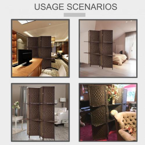 Awe Inspiring Room Divider 4 Panel Screen Divider Wooden Screen Folding With Removable Shelves Download Free Architecture Designs Scobabritishbridgeorg