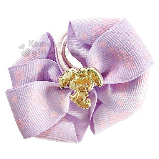 〔小禮堂〕BO蹦蹦兔 緞帶彈力髮束~紫.金側坐.花.音符.蝴蝶結~髮圈