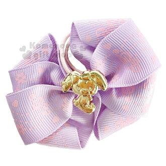 〔小禮堂〕BO蹦蹦兔 緞帶彈力髮束《紫.金側坐.花.音符.蝴蝶結》髮圈