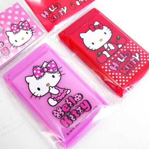 【真愛日本】15061800026 攜帶鏡梳組S-紅粉兩色 三麗鷗 Hello Kitty 凱蒂貓 化妝鏡 美容 隨身鏡 正品 限量 隨機出貨