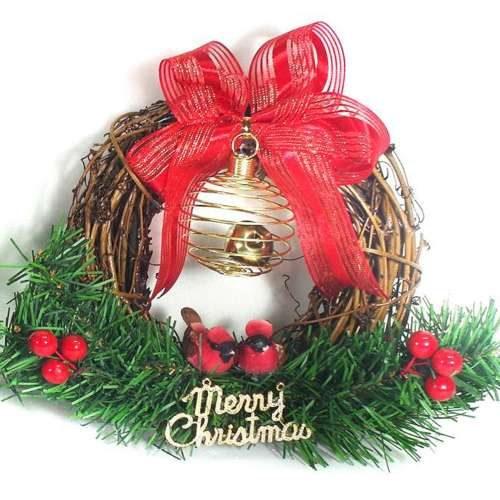 摩達客 樹藤鈴鐺復古對鳥聖誕花圈(本島免運費)YS-BW16001