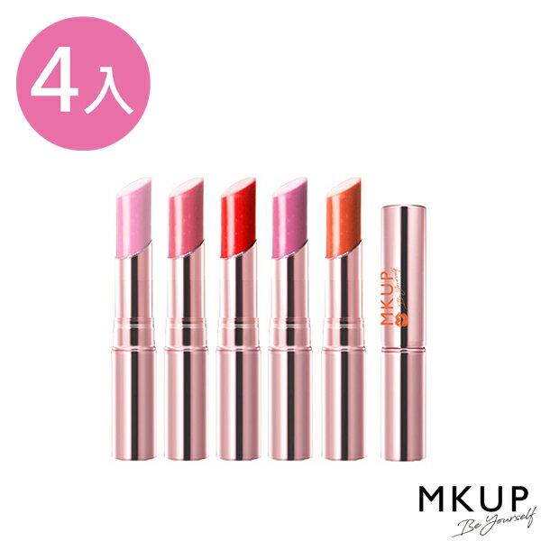 高水感護唇膏4入組★MKUP 美咖 水唇蜜光澤護唇膏-高水感(七色) 0