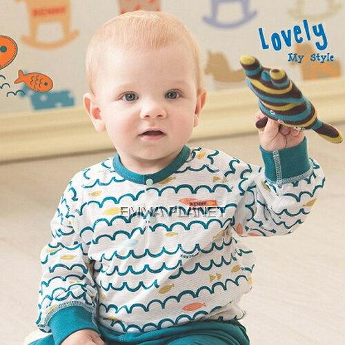 BENNY 快樂小魚兒 長袖冷氣衫套裝-前半開B84083