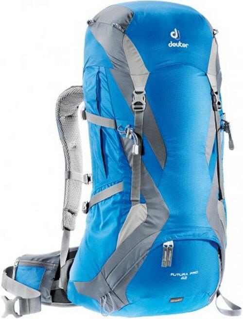 【鄉野情戶外專業】 Deuter |德國| Futura Pro 42L 透氣網架登山背包 自助旅行 藍/灰 34294