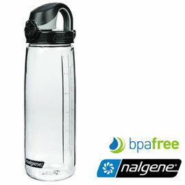 【Nalgene 美國】OTF 運動水壺 水瓶 隨身水壺 無雙酚A《透明∕黑蓋》(5565-9024) 【容量650ml】