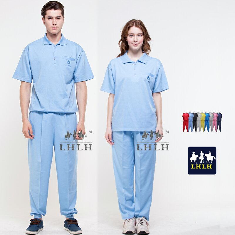 水藍色 健檢服裝 休閒服套裝 看護服 工作服 短袖 女 男 Polo衫 【現貨】