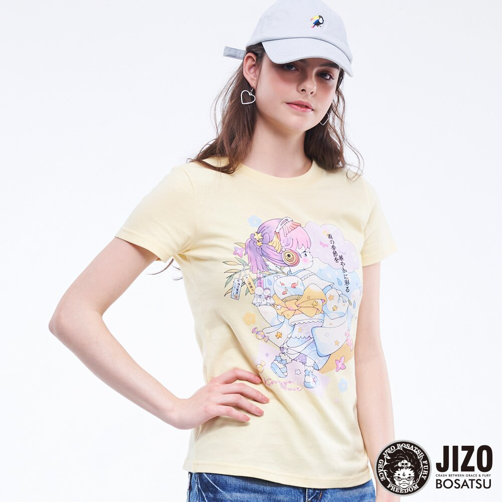 【2020春夏新品】金魚姬晴天娃娃短TEE(淡黃)  - BLUE WAY JIZO 地藏小王 0