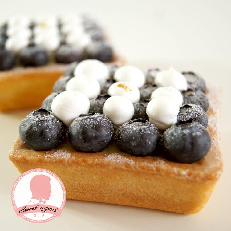 【甜點特務】[ 黑白棋盤藍莓塔 ] 新鮮藍莓+酥脆塔皮+香草卡士達 4