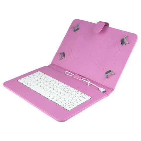 Felji Pink Stand Leather Case Cover for 10 Inch Android Tablet Universal w/ USB Keyboard fca903d09caac3c044ff5580d06a3a37